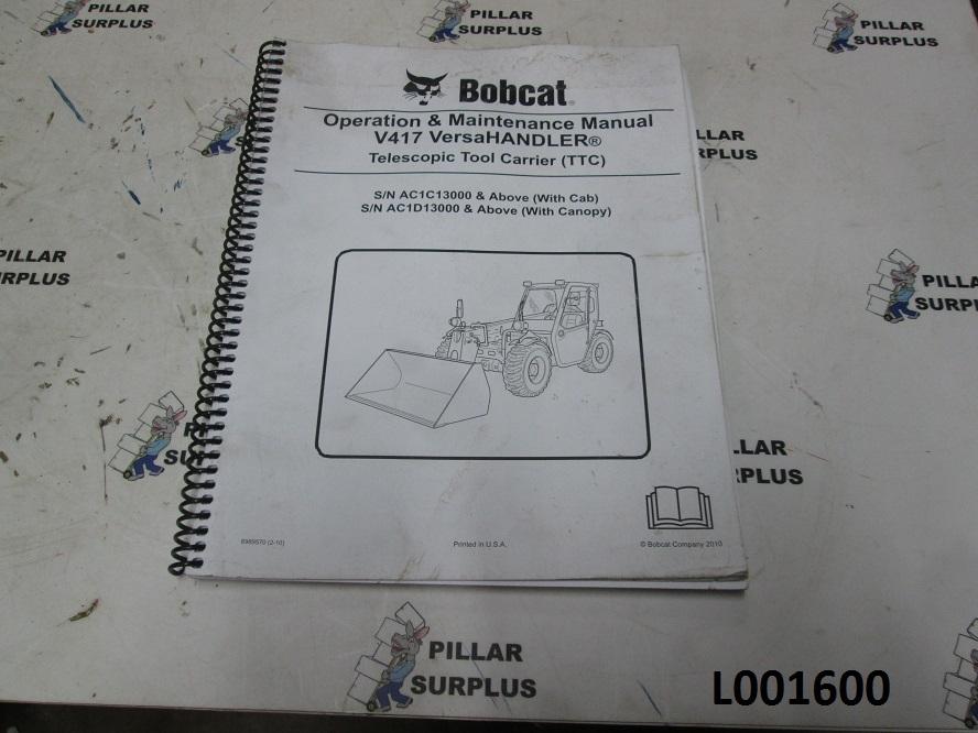 Bobcat V417 Operation And Maintenance Manual