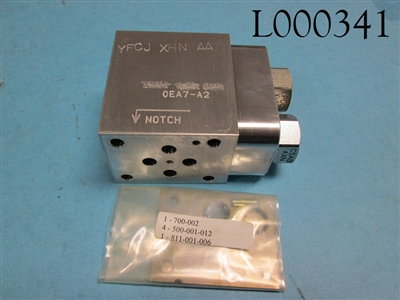 Sun Hydraulics Valve Block YFC and Sun Cartridge LPDC-XHN and Sun Cartridge CSAB-BXN