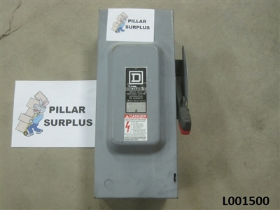 Square D Heavy Duty Safety Switch 100A 600V AC/DC H363 Series F1
