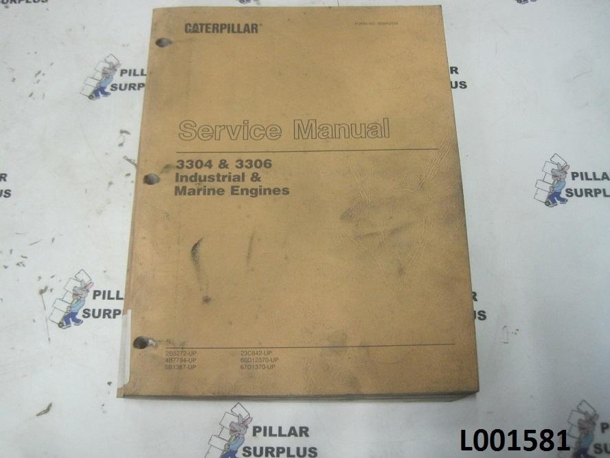 caterpillar cat 3304 3306 industrial marine engines service rh pillarsurplus com 3304 Cat Lift Pump Cat 3306 Air Intake