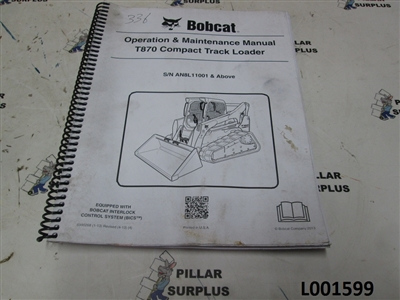 Bobcat Operation & Maintenance Manual for T870 Compact Track Loader 6990268