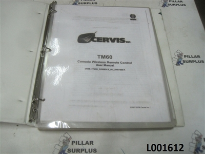 Cervis TM60 Console Wireless Remote Control User Manual