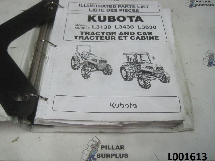Kubota L3130  L3430  L3830 Tractor  U0026 Cab Illustrated Parts List 97898