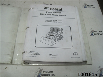 Bobcat S185 Skid Steer Loader Parts Manual