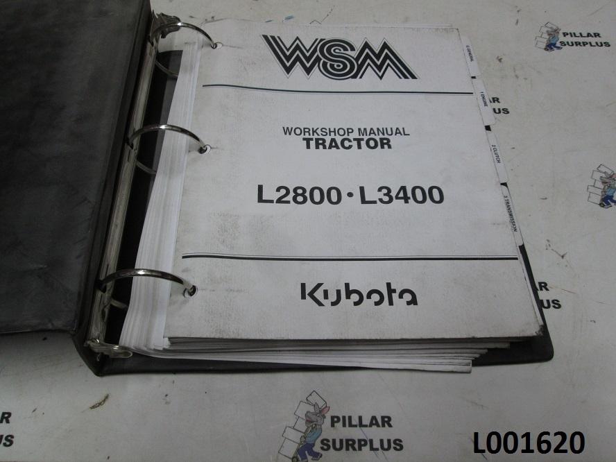 kubota l2800 l3400 tractor workshop manual 97897 13190 rh pillarsurplus com kubota workshop manual 2001 bx2200d kubota workshop manuals svl25