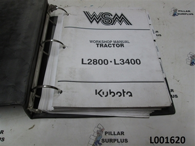 Kubota L2800-L3400 Tractor Workshop Manual 97897-13190