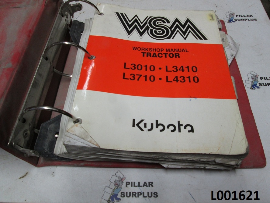 Kubota L3010  L3410  L3710  L4310 Tractor Workshop Manual