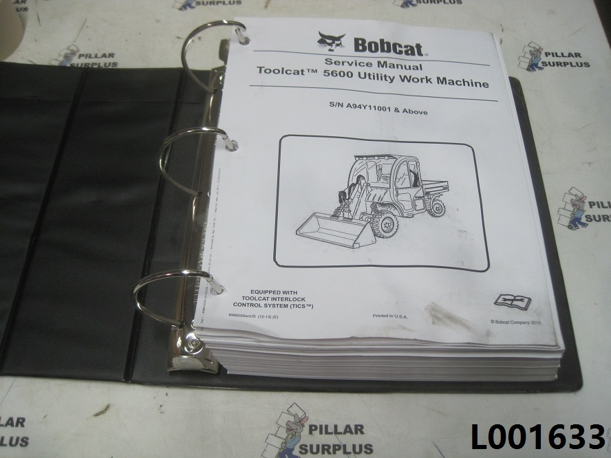 Bobcat Toolcat 5600 Utility Vehicle Service Manual S  N A94y11001