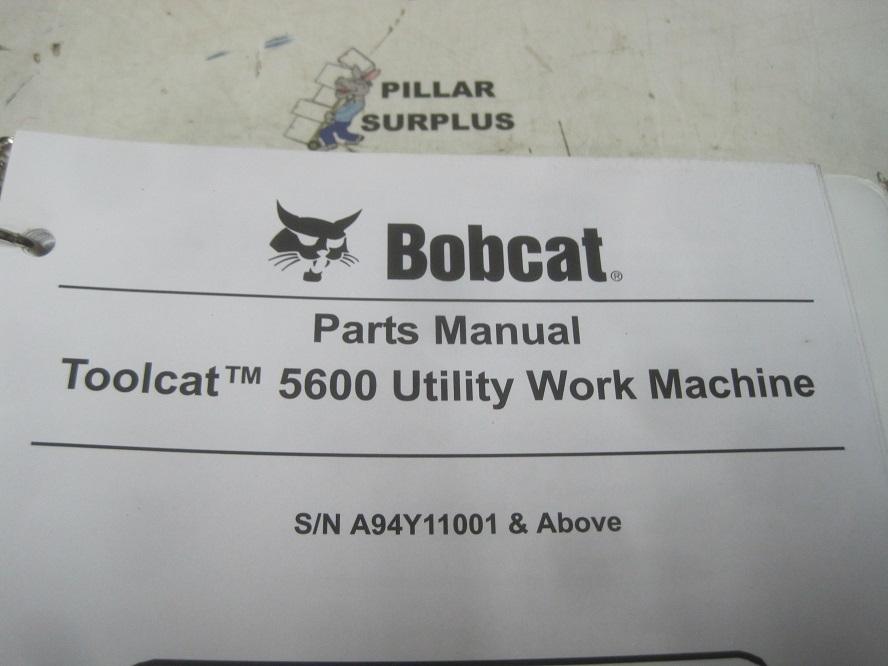 Bobcat Toolcat 5600 Utility Vehicle Parts Manual S N
