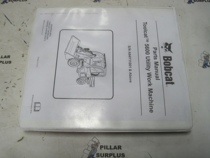 Bobcat Toolcat 5600 Utility Vehicle Parts Manual S  N
