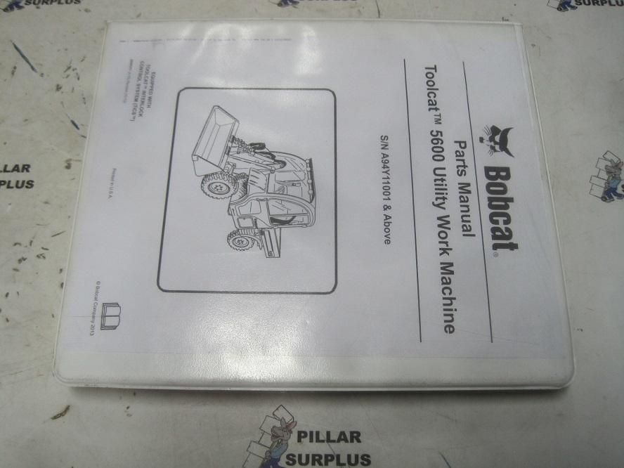 Bobcat Toolcat 5600 Utility Vehicle Parts Manual S  N A94y11001