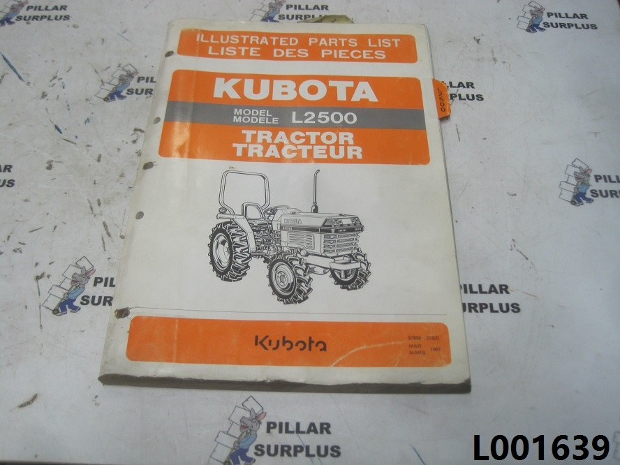 Kubota l2500 Manual