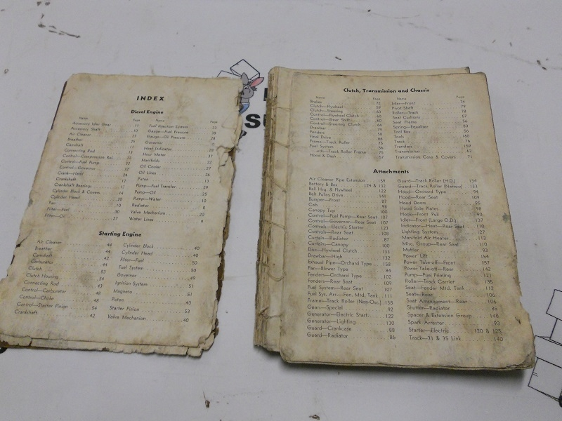 Caterpillar D2 Tractor 50 Inch Gauge Parts Catalog - Serial Numbers  5J3501-5J10561 Inclusive Form 8984
