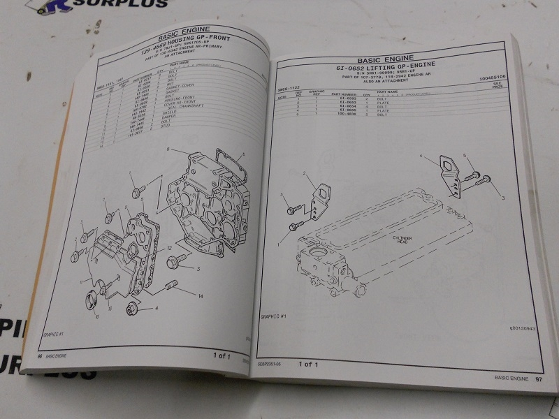 Caterpillar Parts Manual Th63 Th82 Th83 Telehandler