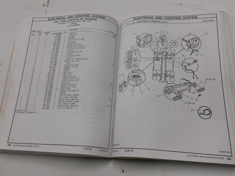 Caterpillar Parts Manual Th63  Th82  Th83 Telehandler Volume I Sebp2351