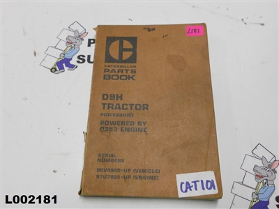 Caterpillar Parts Book D9H Tractor Powershift Powered By D353 Engine SEBP1156