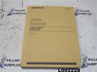Genuine OEM Caterpillar CAT 3306 Industrial Engine Parts Manual SEBP1989-03