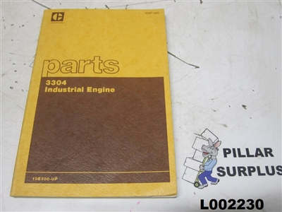 Genuine OEM Caterpillar CAT 3304 Industrial Engine Parts Manual SEBP1400