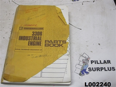 Genuine OEM Caterpillar CAT 3306 Industrial Engine (Engine only) Parts Manual SEBP1200