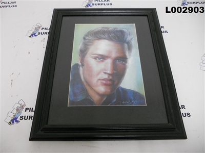 Framed Elvis Mixed Media Art Reproduction