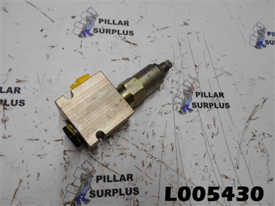 Hydraulic Valve Block 20058 with Vickers Relief Cartridge RV8-10-S-0-25/