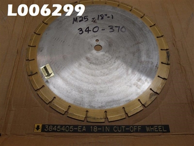 "18"" Concrete Cutting Saw Blade"