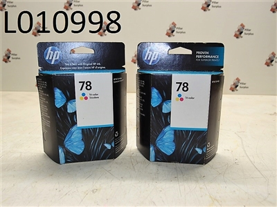 HP 78 Tri-Color Ink Jet Cartridges (1 Lot of 2 Pkgs.)
