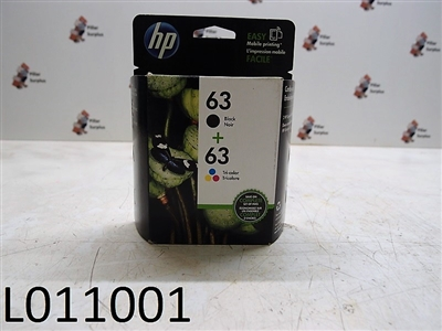 HP 63 Black/Tri-Color Ink Jet Cartridges