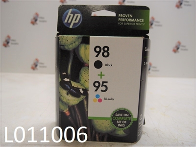 HP 98 Black/95 Tri-Color Ink Jet Cartridges